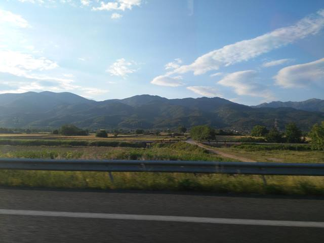 Yunanistan'a otostop - Selanik yolu - Yol manzaraları
